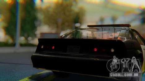 Buffalo Sheriff para GTA San Andreas vista traseira