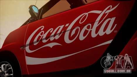 Smart ForTwo Coca-Cola Worker para GTA San Andreas vista traseira