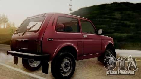 VAZ 2121 Niva Stoke para GTA San Andreas traseira esquerda vista