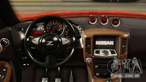 Nissan 370Z para GTA San Andreas vista traseira