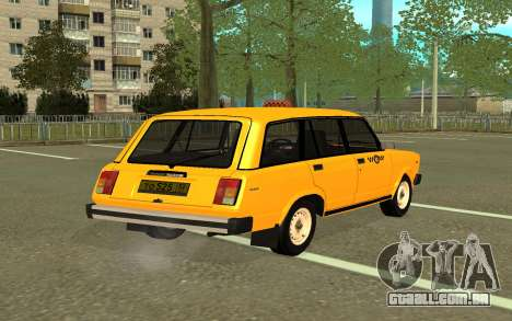 VAZ 2104 de Táxi para GTA San Andreas esquerda vista