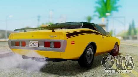 Dodge Charger Super Bee 426 Hemi (WS23) 1971 para GTA San Andreas esquerda vista