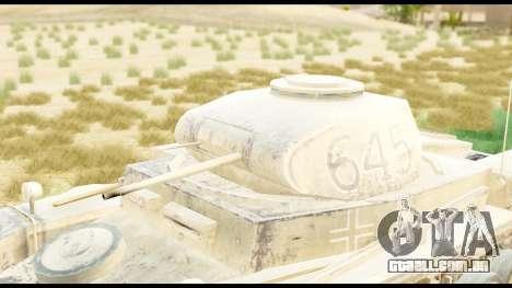 Panzerkampwagen II Desert para GTA San Andreas vista direita