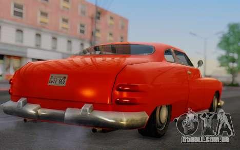 Dundreary Hermes para GTA San Andreas esquerda vista