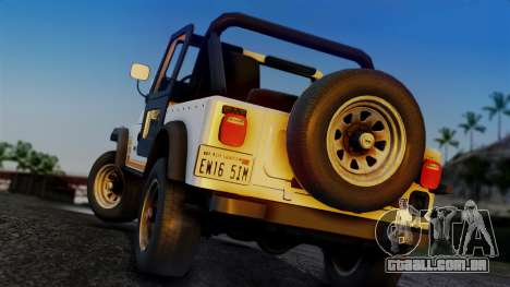 Jeep CJ-7 Renegade 1982 para GTA San Andreas esquerda vista