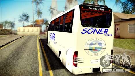 Mercedes-Benz Travego Soner Turizm para GTA San Andreas esquerda vista