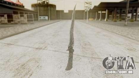 Ebony Dagger para GTA San Andreas