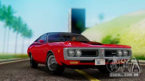 Dodge Charger Super Bee 426 Hemi (WS23) 1971 para GTA San Andreas vista traseira