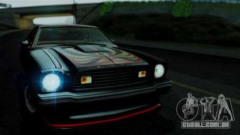 Ford Mustang King Cobra 1978 para GTA San Andreas traseira esquerda vista