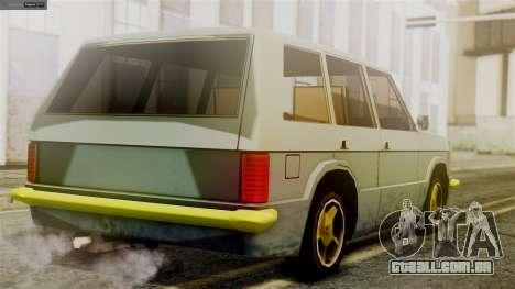 Huntley New Edition para GTA San Andreas esquerda vista