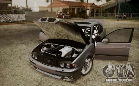 BMW M5 E39 E-Design para GTA San Andreas vista traseira
