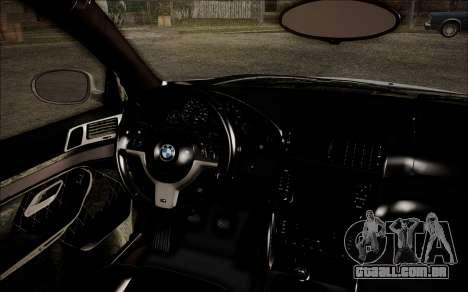 BMW M5 E39 E-Design para GTA San Andreas vista direita