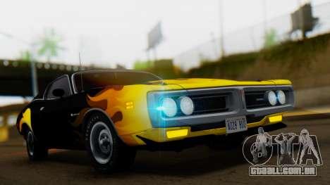 Dodge Charger Super Bee 426 Hemi (WS23) 1971 para GTA San Andreas vista interior