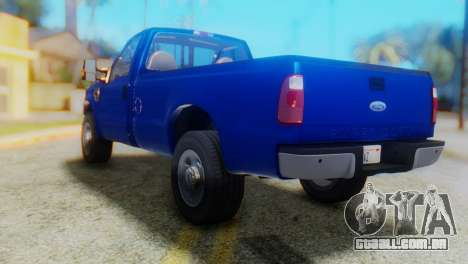 Ford F-350 Super Duty Regular Cab 2008 HQLM para GTA San Andreas esquerda vista