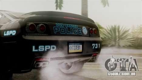 Hunter Citizen from Burnout Paradise Police LS para GTA San Andreas vista interior