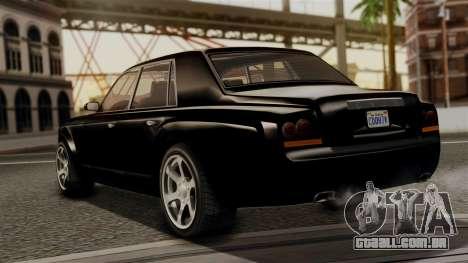GTA 5 Enus Super Diamond para GTA San Andreas esquerda vista