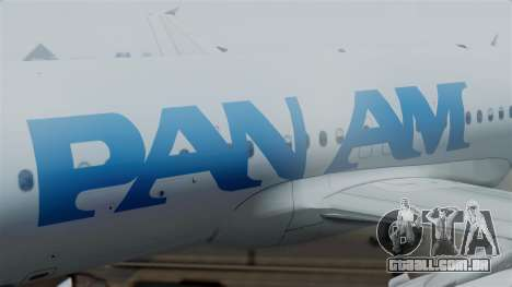 Airbus A320-200 Pan American World Airlines para GTA San Andreas vista direita