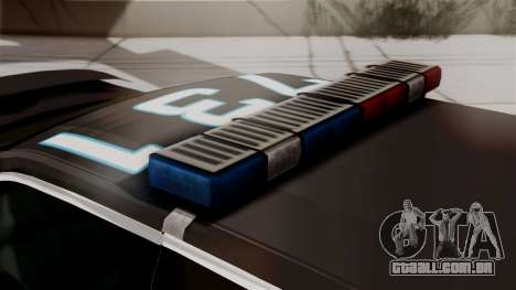 Hunter Citizen from Burnout Paradise Police LS para GTA San Andreas vista traseira