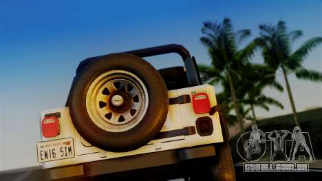 Jeep CJ-7 Renegade 1982 para GTA San Andreas vista direita