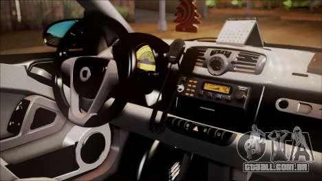 Smart ForTwo Coca-Cola Worker para GTA San Andreas vista direita