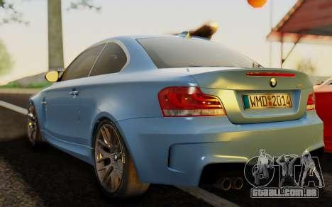 BMW 1M E82 para GTA San Andreas esquerda vista