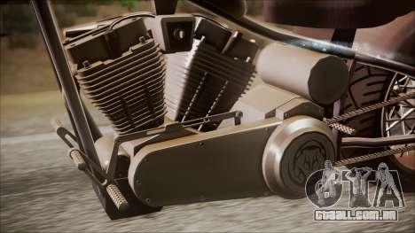 LCC Hexer GTA 5 IVF para GTA San Andreas traseira esquerda vista