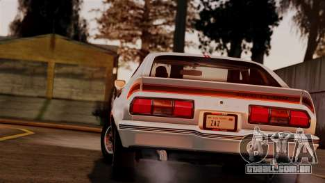 Ford Mustang King Cobra 1978 para GTA San Andreas esquerda vista