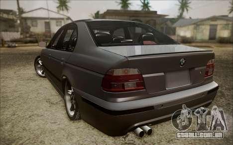BMW M5 E39 E-Design para GTA San Andreas traseira esquerda vista