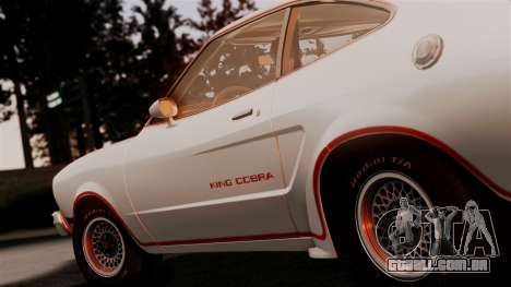 Ford Mustang King Cobra 1978 para GTA San Andreas vista traseira