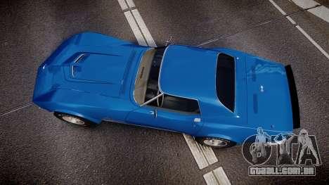 Chevrolet Corvette ZR1 1970 [EPM] para GTA 4 vista direita