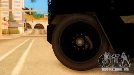 Sat Brimob Skin Enforcer from GTA 5 para GTA San Andreas traseira esquerda vista