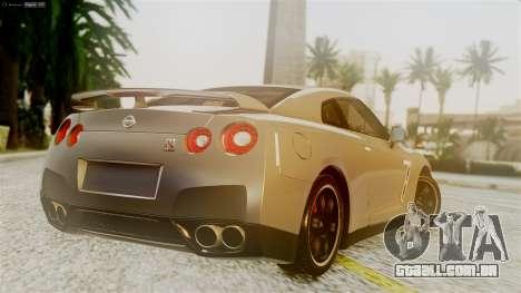 Nissan GT-R R35 para GTA San Andreas esquerda vista