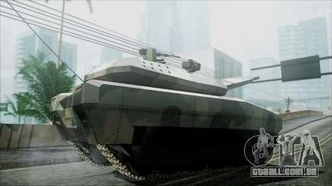 PL-01 Concept Camo para GTA San Andreas traseira esquerda vista