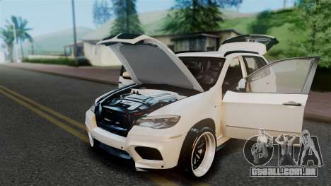 BMW X5M 2014 E-Tuning para GTA San Andreas vista interior