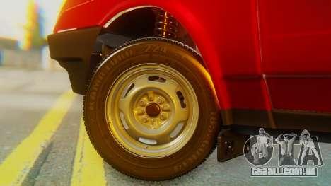 2109 Stoke para GTA San Andreas traseira esquerda vista