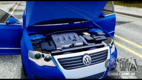 Volkswagen Passat B6 para GTA San Andreas vista interior