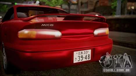 Mazda MX-6 (GE5S) para vista lateral GTA San Andreas