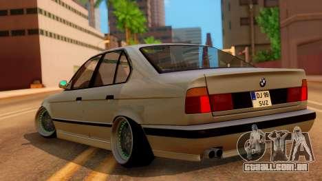BMW M5 E34 Stance para GTA San Andreas esquerda vista