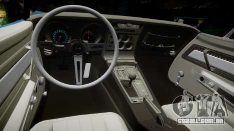 Chevrolet Corvette ZR1 1970 [EPM] para GTA 4 vista interior