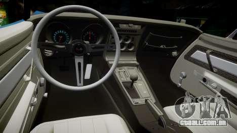 Chevrolet Corvette ZR1 1970 [EPM] para GTA 4 vista interior