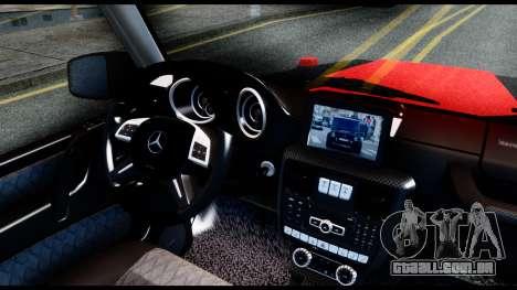 Mercedes-Benz G65 Hamann 2013 para GTA San Andreas traseira esquerda vista