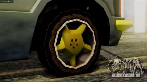 Huntley New Edition para GTA San Andreas traseira esquerda vista