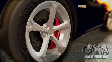 Chevrolet Corvette Sport para GTA San Andreas vista direita