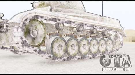 Panzerkampwagen II Snow para GTA San Andreas traseira esquerda vista