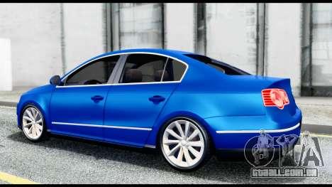 Volkswagen Passat B6 para GTA San Andreas vista direita