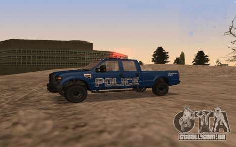 Ford F-250 Incident Response para GTA San Andreas esquerda vista