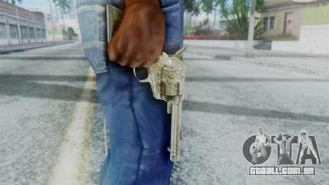 Red Dead Redemption Revolver Sergio para GTA San Andreas terceira tela
