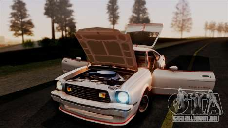 Ford Mustang King Cobra 1978 para vista lateral GTA San Andreas