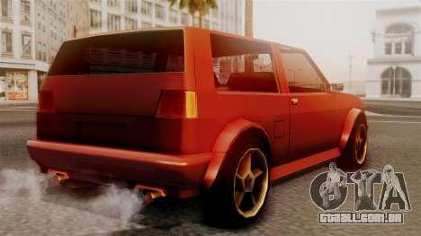 Club New Edition para GTA San Andreas esquerda vista