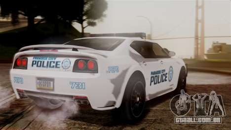 Hunter Citizen from Burnout Paradise v3 para GTA San Andreas esquerda vista